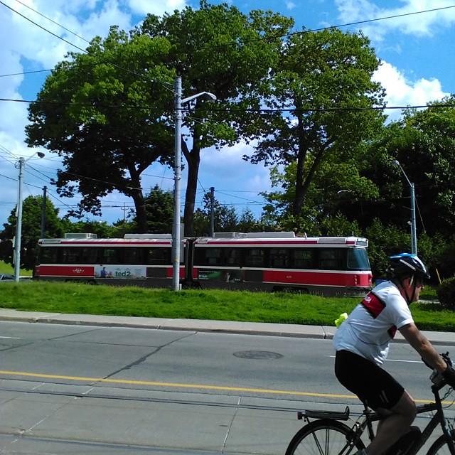 End of the line #toronto #streetcar #ttc #queenstreeteast #nevillepark #queenstreet