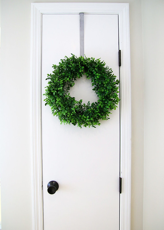 Boxwood Wreath Linen Closet