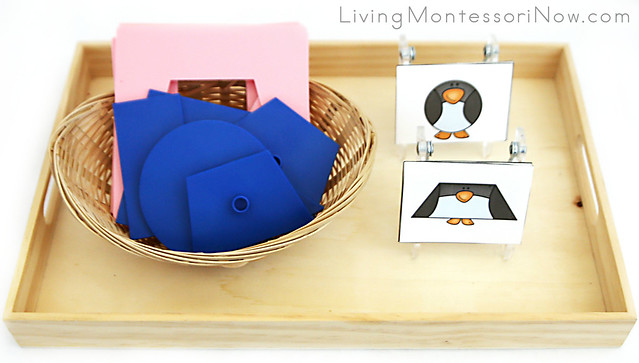 Penguin Shape Matching Tray