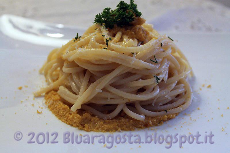05-spaghetti cacio, pepe, ricci di mare e bottarga