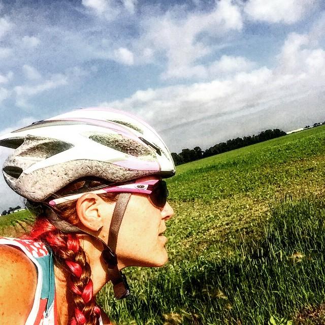 #ilovetoridemybicycle #triouradventure #GOBA Bluffton to Defiance 60 miles