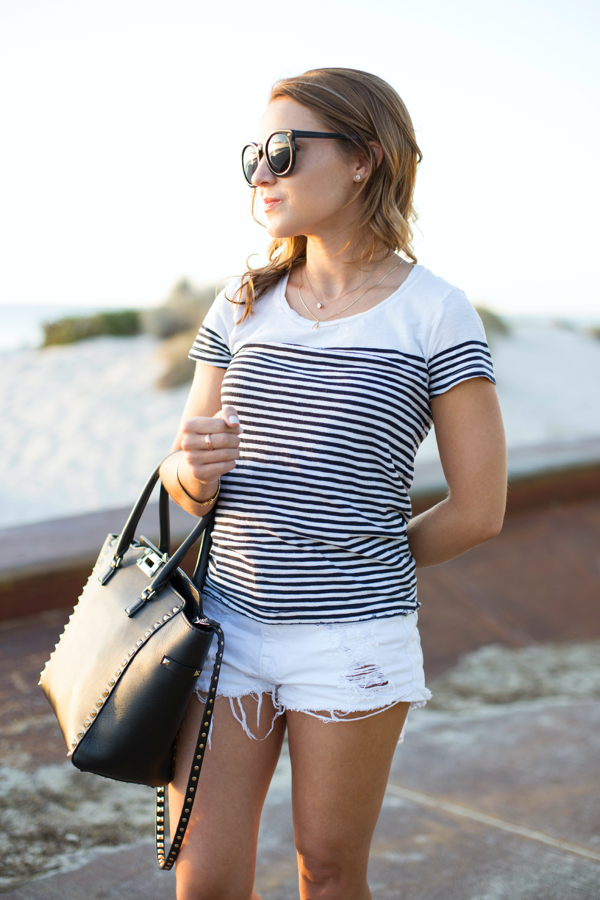 White + Stripes at the Beach