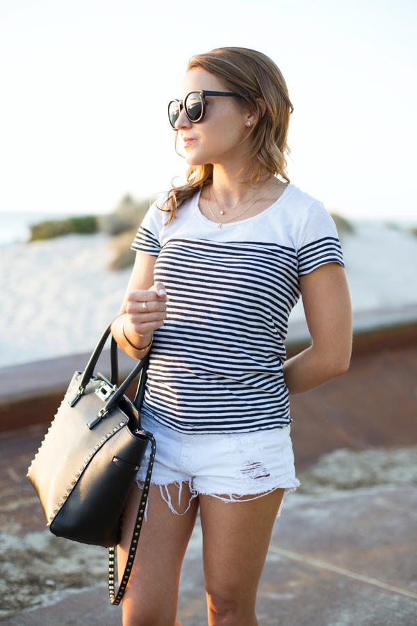 White + Stripes at the Beach