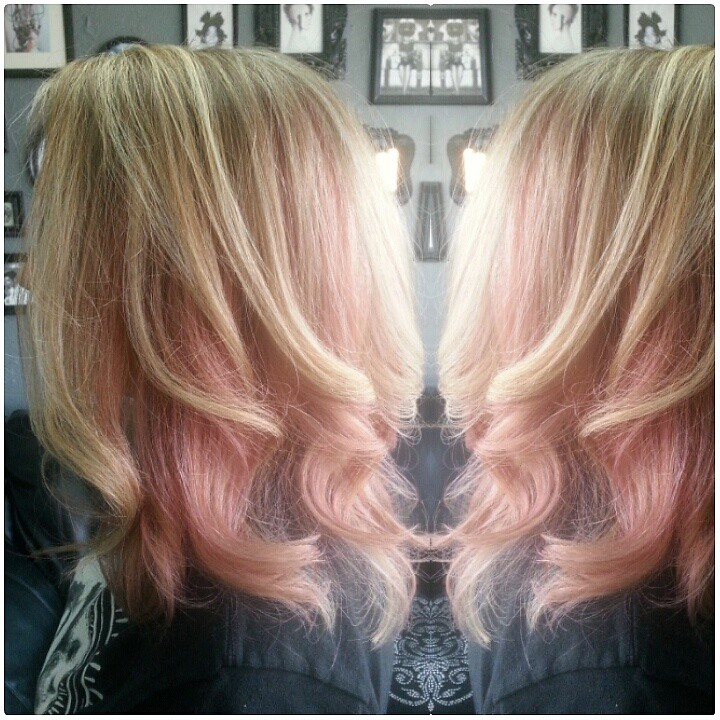 Highlights With Block Pastel Pink Hair Color Highlights Wi Flickr
