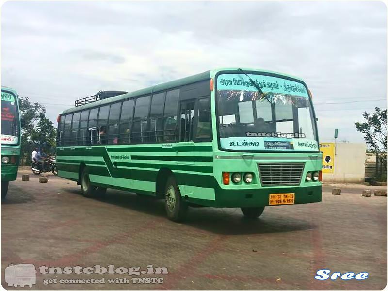 TN-72N-1926 of Bypass Depot Route Udangudi - Coimbatore via Tirunelveli, Madurai, Ottanchatiram, Dharapuram.