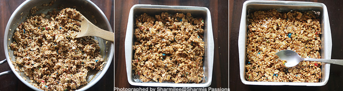 How to make M and M Granola Bars - Step7
