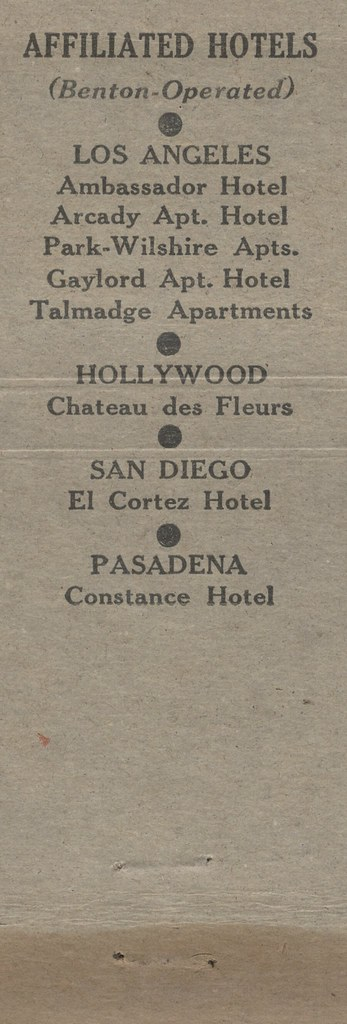 Benton Operated Hotels in California