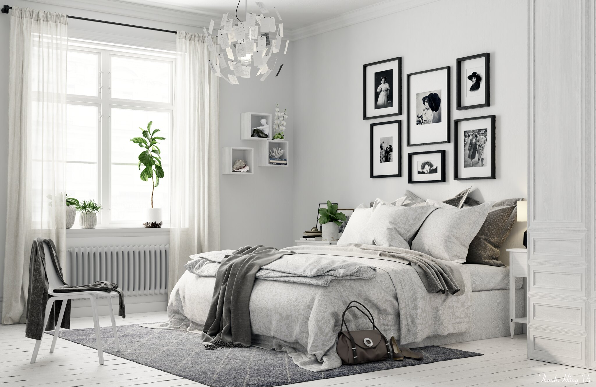 bedroom scandinavian style. Black Bedroom Furniture Sets. Home Design Ideas