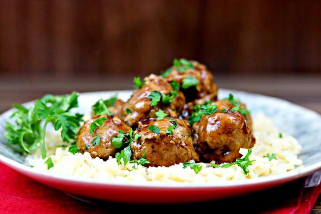 Teriyaki Turkey Meatballs Front