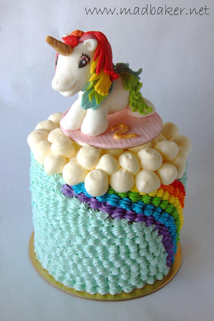 Unicorn Rainbow Cake Happy 2nd Birthday Rachel Karen Chong