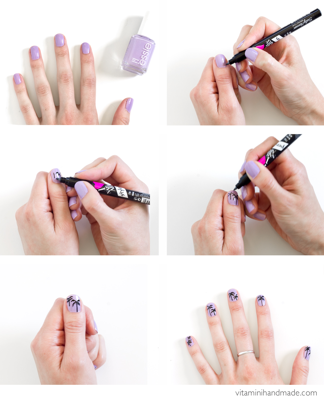 DIY Palm Tree Mani - Perfect for Summer! Click through for the full tutorial!