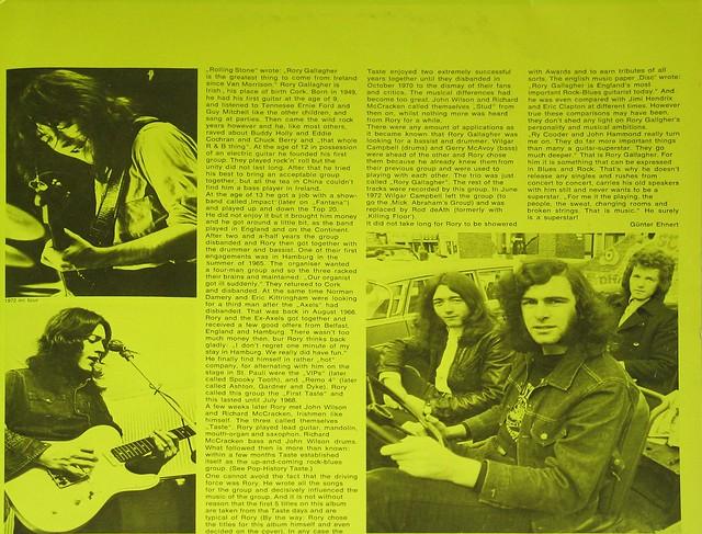 "Rory Gallagher Pop History Vol XXX 12"" 2LP"
