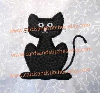 Scary Cat Applique Machine Embroidery Design Cindy Miller Flickr