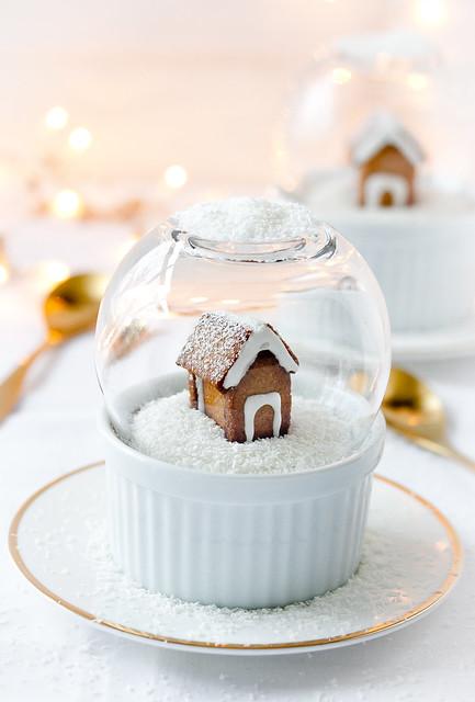 Schneekugel Dessert