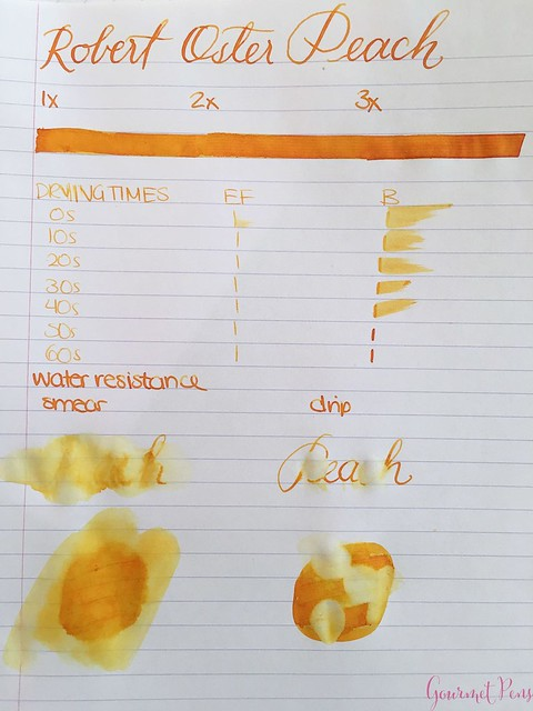Ink Shot Review @RobertOsterInk Peach @SakuraFPGallery 2