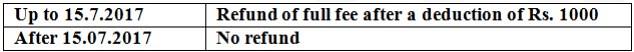 DYU MBA FEE Withdrawal Policy