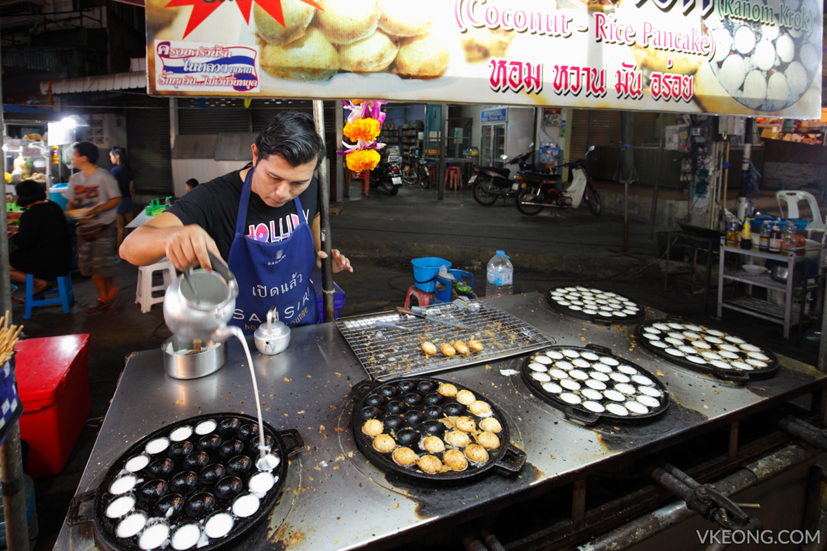 Hua Hin Night Market Coconut Rice Pancake
