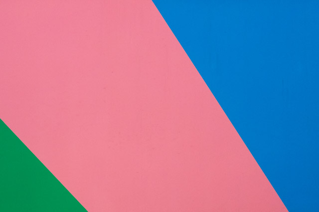 green, pink and blue stripes