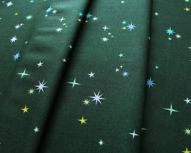 Andover Fabrics Natural History Twinkle Twinkle in Hunter Green