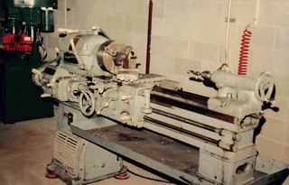 Lathe in old location | by smithshydraulic