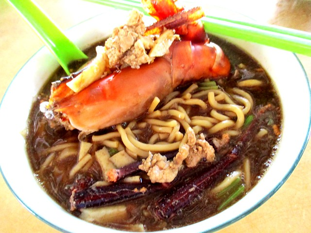 Chopsticks prawn noodles