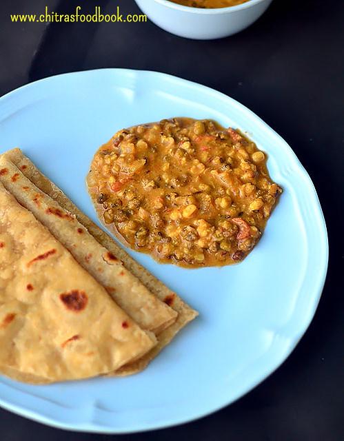 Pachai payaru kuruma recipe for rice, roti, idli , dosa