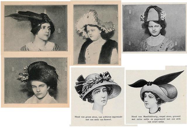 Op de Hoogte mei 1911  ill Damesmode. hoeden