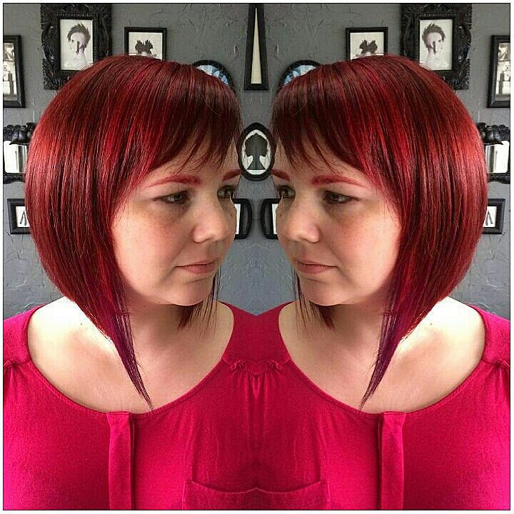 Multi Red Toned Hair Color With Violet Block Multi Red Ton