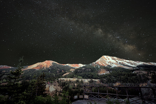 Red Mountain at Night