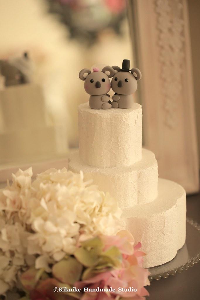 Lovely Koala with tree bride and groom wedding cake topper… | Flickr