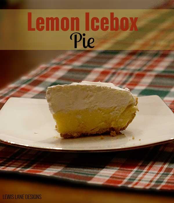 Lemon Icebox Pie by Lewis Lane