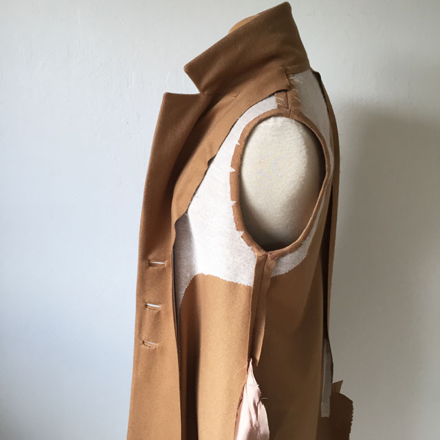 camel coat inside interfacing