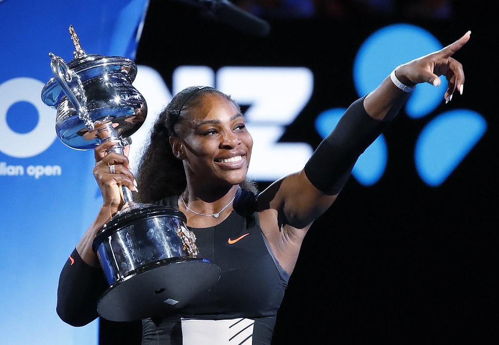 Serena Williams或有機會衛冕2018年澳網頭銜。(達志影像資料照)