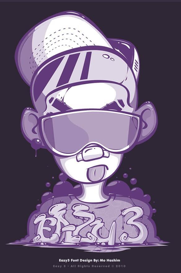 Шрифт - Eazy 3 для Фотошоп
