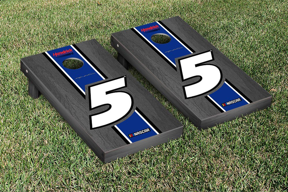 KASEY KAHNE #5 CORNHOLE GAME SET ONYX STAINED STRIPE VERSION
