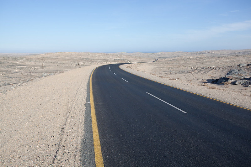 Winding road, Namibia