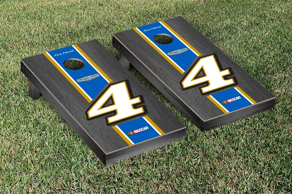 KEVIN HARVICK #4 CORNHOLE GAME SET ONYX STAINED STRIPE VERSION (847358)