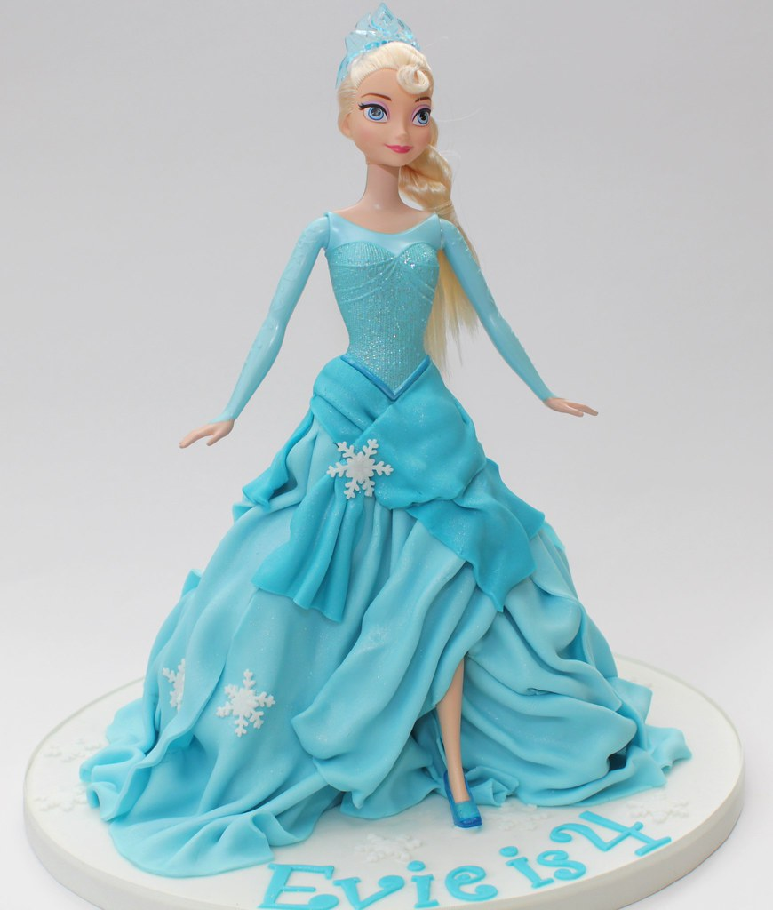 Princess Elsa Cake Images : princess elsa doll cake Inspired by many similar cakes ...