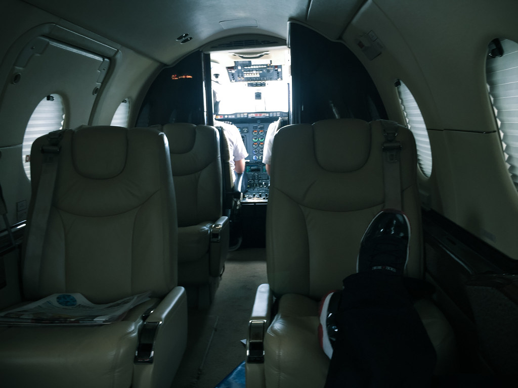 Aboard the Hawker 400XP