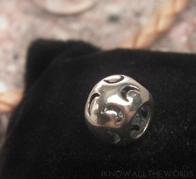soufeel review Moon Pattern Charm 925 Sterling Silver