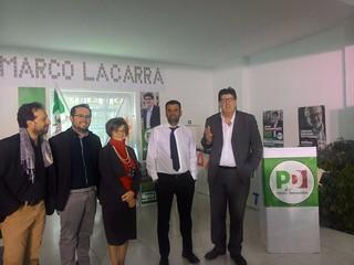Il sindaco metropolitano Decaro e il neoconsigliere regionale Marco Lacarra, primo degli eletti con oltre 14mila voti