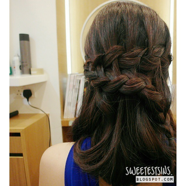 prep waterfall braids