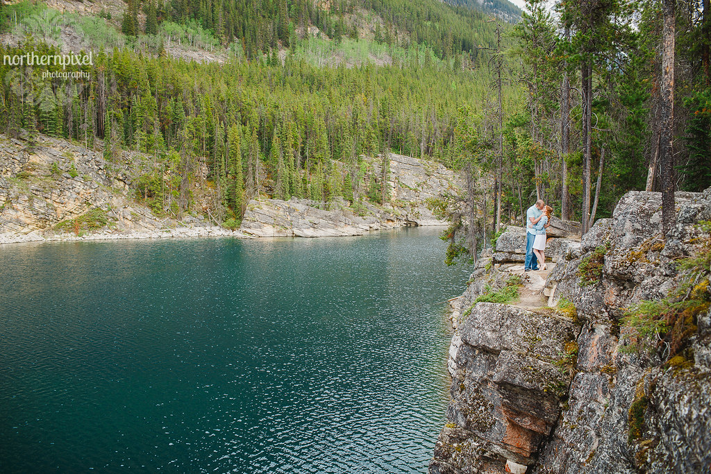 Horseshoe Lake Engagement Session Jasper Alberta Elopement