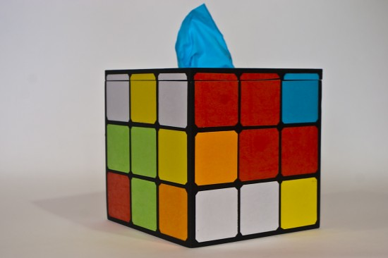 Gaming & retro tissue boxes by kanojo - Rubik's Cube