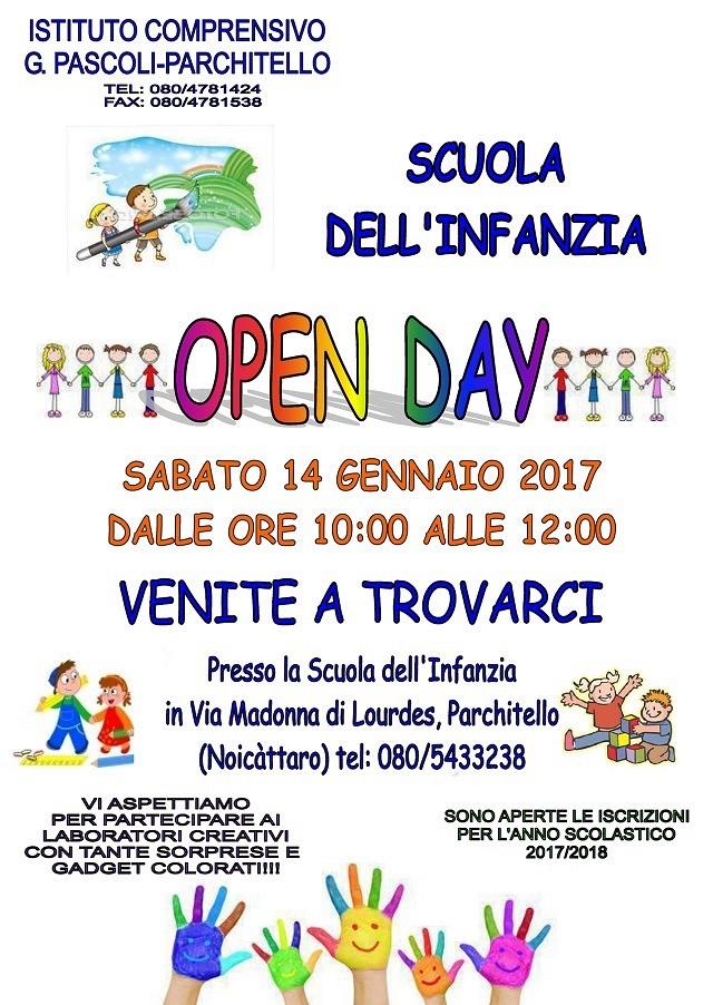 Noicattaro. Open Day infanzia Parchitello intero