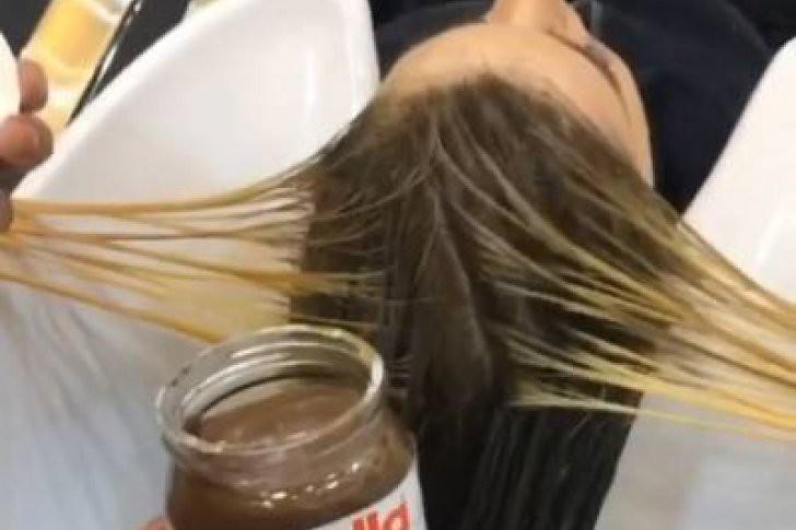 La última tendencia: teñirse el cabello con nutella y leche condensada