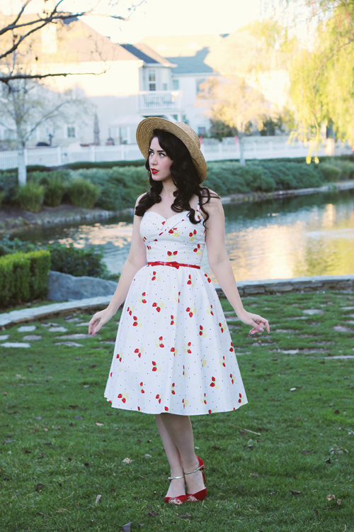 Stop Staring Strawberry Swing Dress