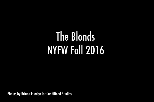 NYFW FW 2016 | The Blonds