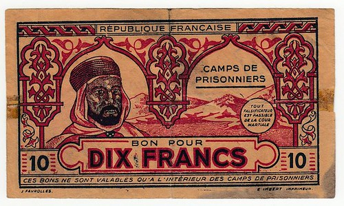 French North African Prison Camp Scrip face
