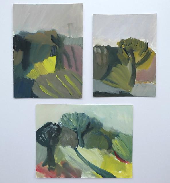 three small landscapes